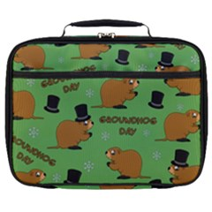 Groundhog Day Pattern Full Print Lunch Bag