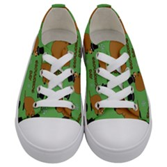 Groundhog Day Pattern Kids  Low Top Canvas Sneakers