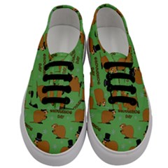 Groundhog Day Pattern Men s Classic Low Top Sneakers