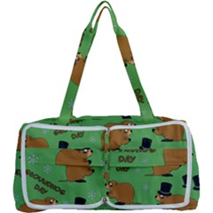 Groundhog Day Pattern Multi Function Bag