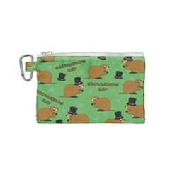 Groundhog Day Pattern Canvas Cosmetic Bag (small)