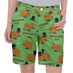 Groundhog Day Pattern Pocket Shorts