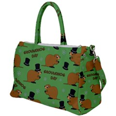 Groundhog Day Pattern Duffel Travel Bag