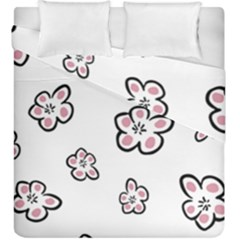 Plum Seamless Flower Duvet Cover Double Side (king Size) by Mariart