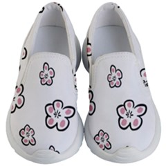 Plum Seamless Flower Kids  Lightweight Slip Ons