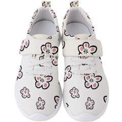 Plum Seamless Flower Men s Velcro Strap Shoes by Mariart