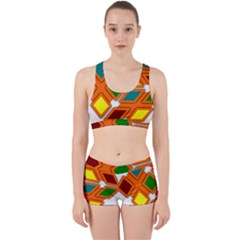 Shape Plaid Work It Out Gym Set by Mariart