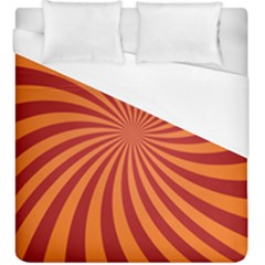 Spiral Swirl Background Vortex Duvet Cover (king Size)