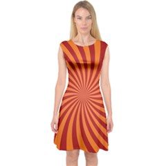 Spiral Swirl Background Vortex Capsleeve Midi Dress by Mariart