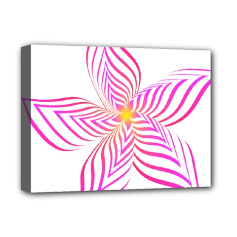 Petal Flower Deluxe Canvas 16  X 12  (stretched)