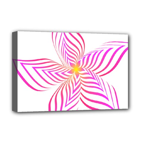 Petal Flower Deluxe Canvas 18  X 12  (stretched)