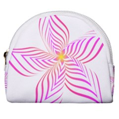 Petal Flower Horseshoe Style Canvas Pouch by Mariart