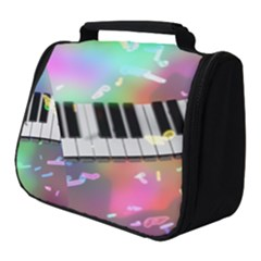 Piano Keys Music Colorful Full Print Travel Pouch (small) by Mariart