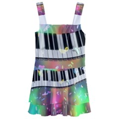 Piano Keys Music Colorful Kids  Layered Skirt Swimsuit by Mariart