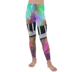 Piano Keys Music Colorful Kids  Lightweight Velour Leggings by Mariart