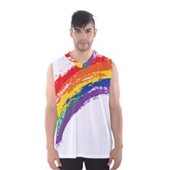 Watercolor Painting Rainbow Men s Basketball Tank Top