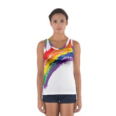 Watercolor Painting Rainbow Sport Tank Top
