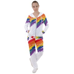 Watercolor Painting Rainbow Women s Tracksuit