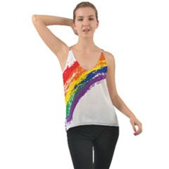 Watercolor Painting Rainbow Chiffon Cami