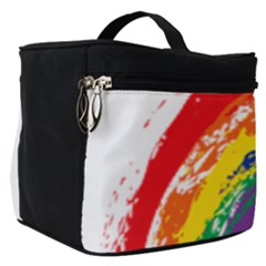 Watercolor Painting Rainbow Make Up Travel Bag (small) by Mariart