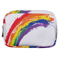 Watercolor Painting Rainbow Make Up Pouch (small) by Mariart
