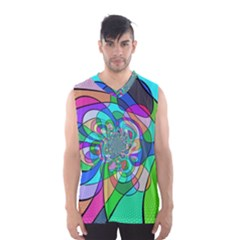 Retro Wave Background Pattern Men s Basketball Tank Top