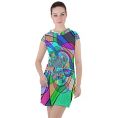 Retro Wave Background Pattern Drawstring Hooded Dress by Mariart