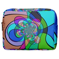 Retro Wave Background Pattern Make Up Pouch (large) by Mariart