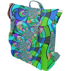 Retro Wave Background Pattern Buckle Up Backpack