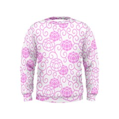 Peony Spring Flowers Kids  Sweatshirt by Mariart