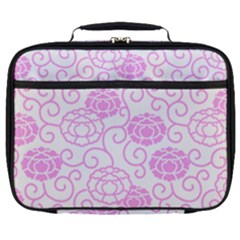 Peony Spring Flowers Full Print Lunch Bag