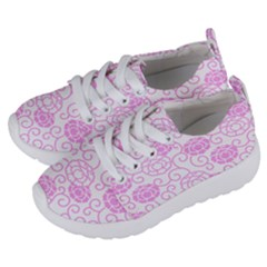 Peony Spring Flowers Kids  Lightweight Sports Shoes by Mariart