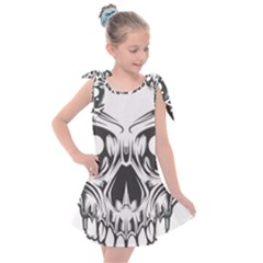 Illustration Skull Kids  Tie Up Tunic Dress