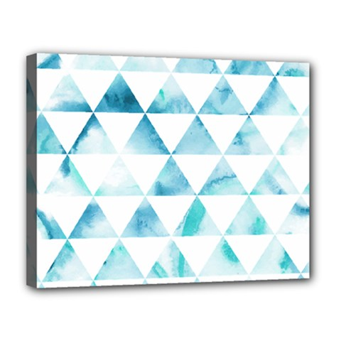Hipster Triangle Pattern Canvas 14  X 11  (stretched)