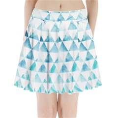 Hipster Triangle Pattern Pleated Mini Skirt by AnjaniArt