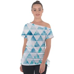 Hipster Triangle Pattern Tie Up Tee