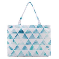 Hipster Triangle Pattern Zipper Medium Tote Bag by AnjaniArt
