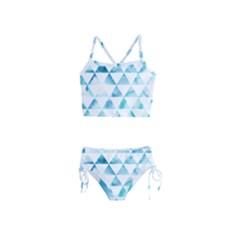 Hipster Triangle Pattern Girls  Tankini Swimsuit by AnjaniArt