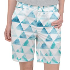 Hipster Triangle Pattern Pocket Shorts