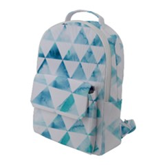 Hipster Triangle Pattern Flap Pocket Backpack (large)