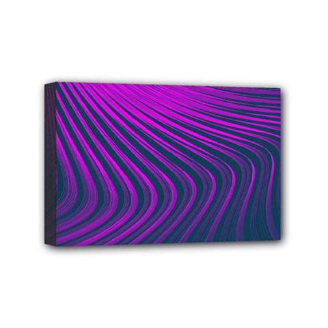 Line Geometric Blue Pink Mini Canvas 6  X 4  (stretched) by AnjaniArt