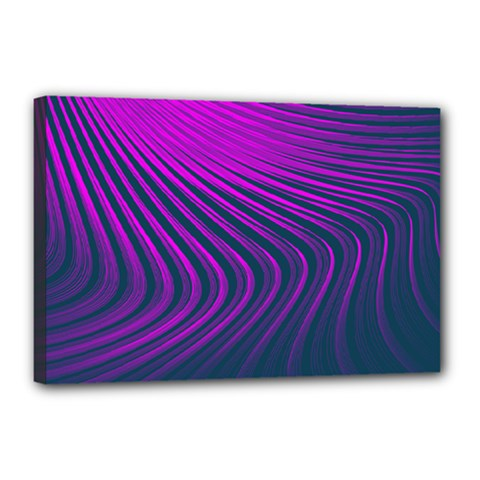 Line Geometric Blue Pink Canvas 18  X 12  (stretched)