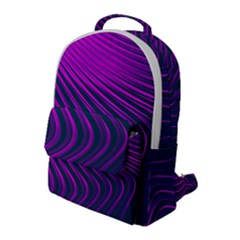 Line Geometric Blue Pink Flap Pocket Backpack (large)