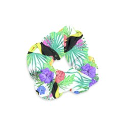 Leaves Tropical Nature Green Plan Velvet Scrunchie