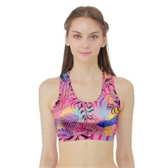 Illustration Reason Leaves Sports Bra With Border