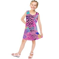 Illustration Reason Leaves Kids  Tunic Dress by AnjaniArt