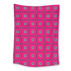 Pink Pattern Squares Medium Tapestry
