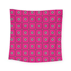 Pink Pattern Squares Square Tapestry (small) by AnjaniArt
