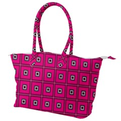 Pink Pattern Squares Canvas Shoulder Bag