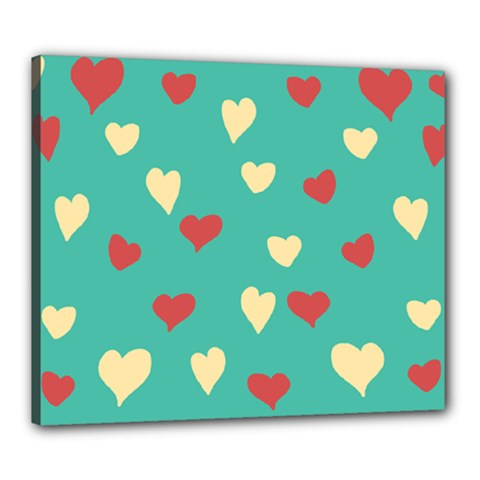 Love Heart Valentine Canvas 24  X 20  (stretched) by AnjaniArt